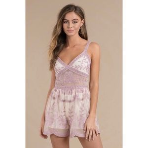 🆕 Great Escapes Lavender Multi Embroidered Romper